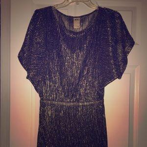 Ali Ro Gold Shimmer Dress